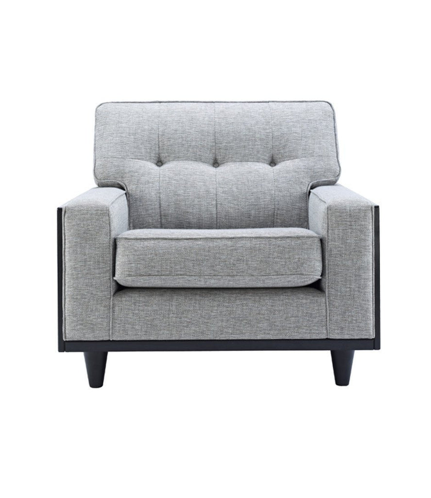 G Plan Vintage - The Fifty Nine Armchair in Fabric-DEVOTEDTO