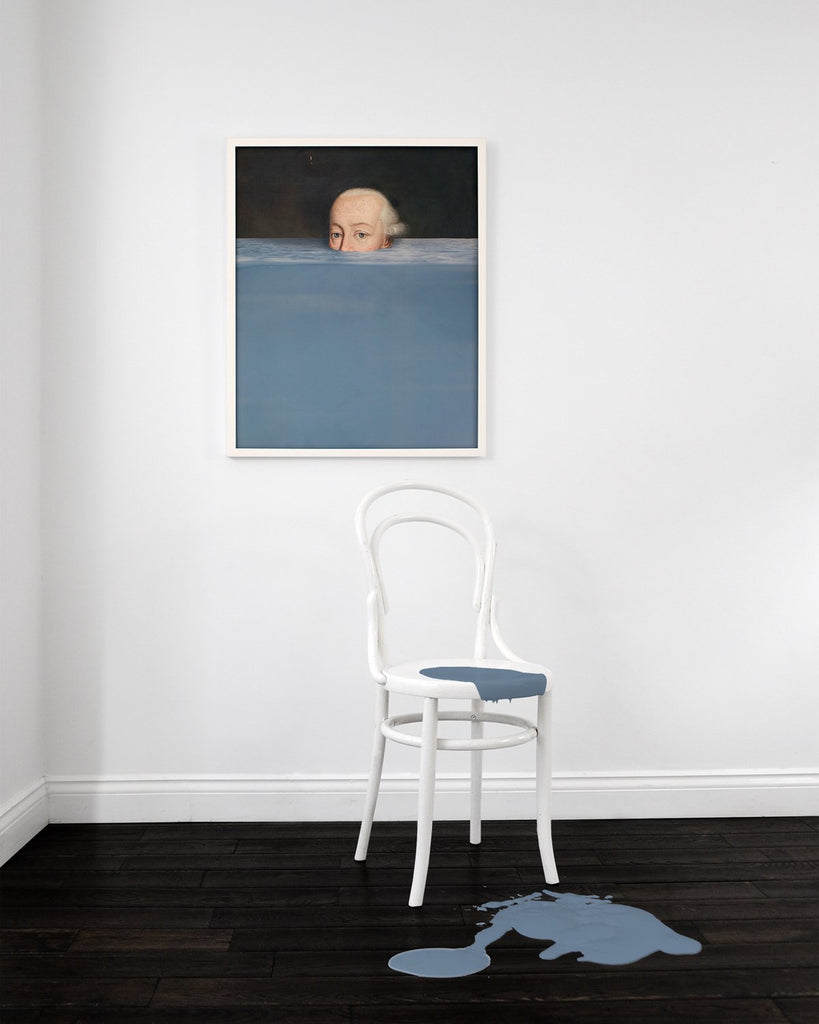 Submerged 1 - Framed Printed Canvas-DEVOTEDTO