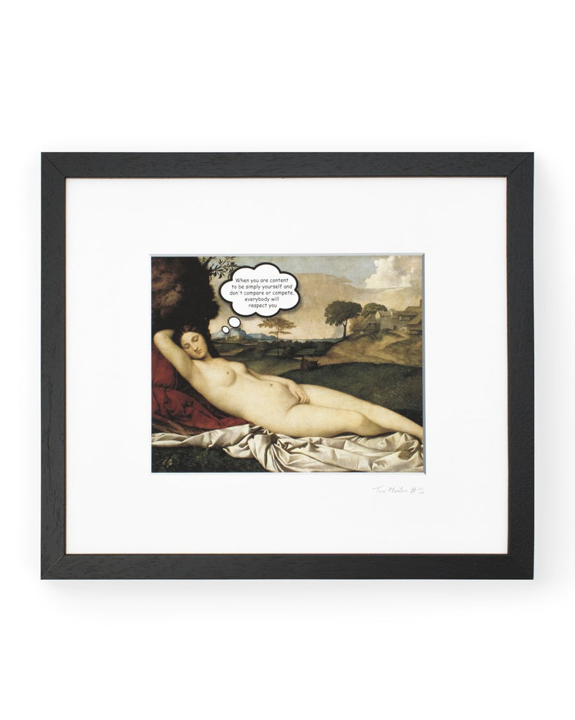 Tao Master 3 - Framed Printed Canvas-DEVOTEDTO