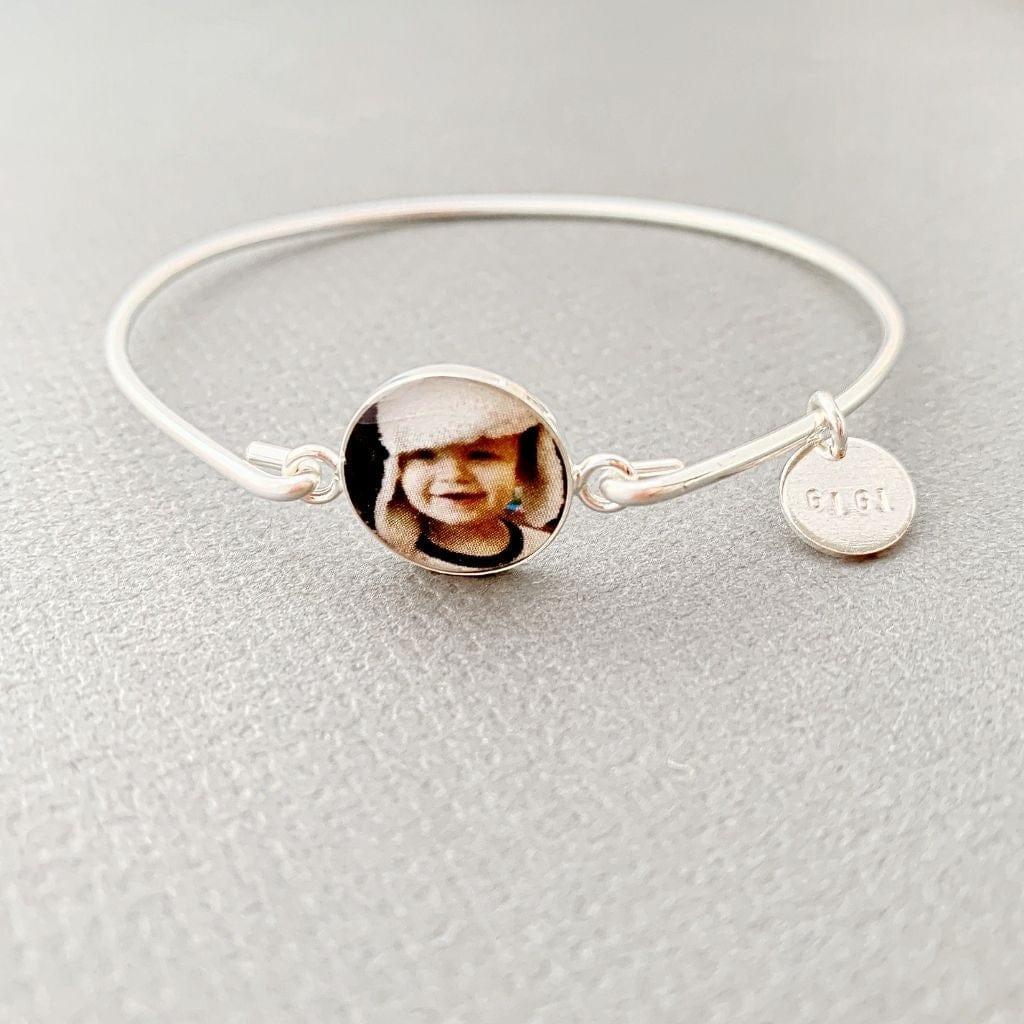 Mimi, Gigi or Nana Photo Bangle Custom Bracelet