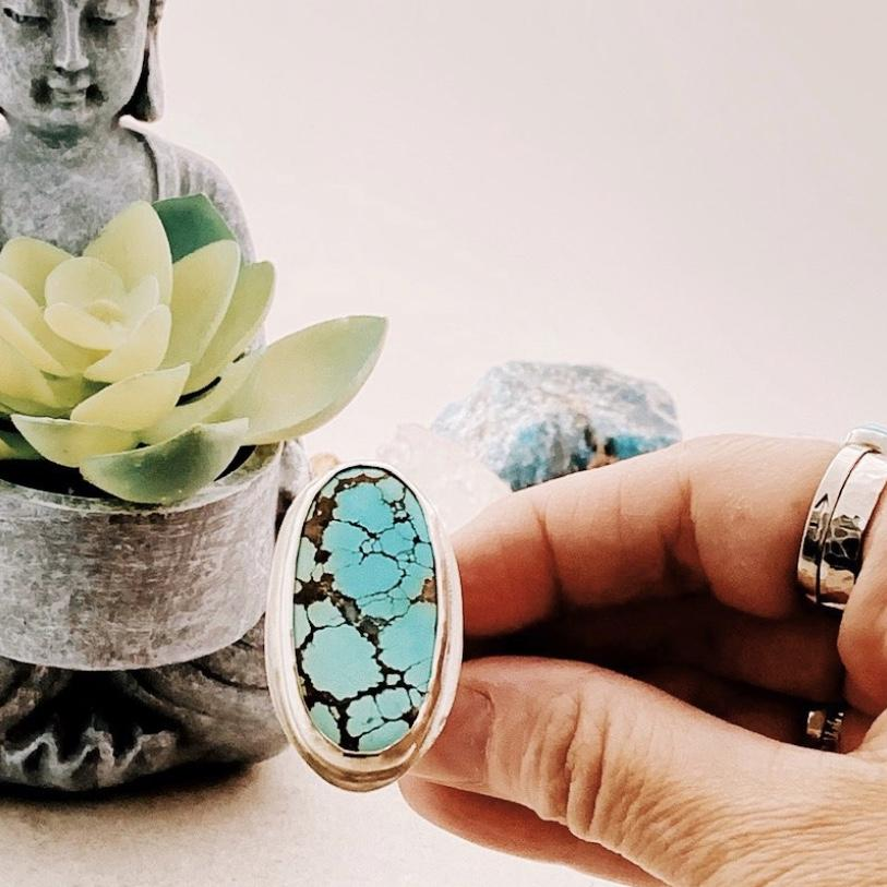 DLK Designs Blue Moon Turquoise Ring