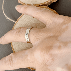 DLK Designs Custom Coordinates Simple Band In Sterling Silver