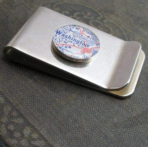 DLK Designs Custom Vintage Map Money Clip
