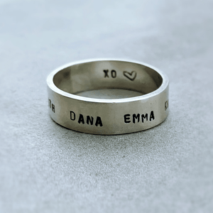 DLK Designs Handcrafted Sterling Personalized Mens Ring