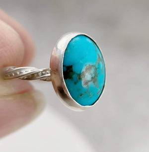 DLK Designs Kingman turquoise Decorative Band Ring
