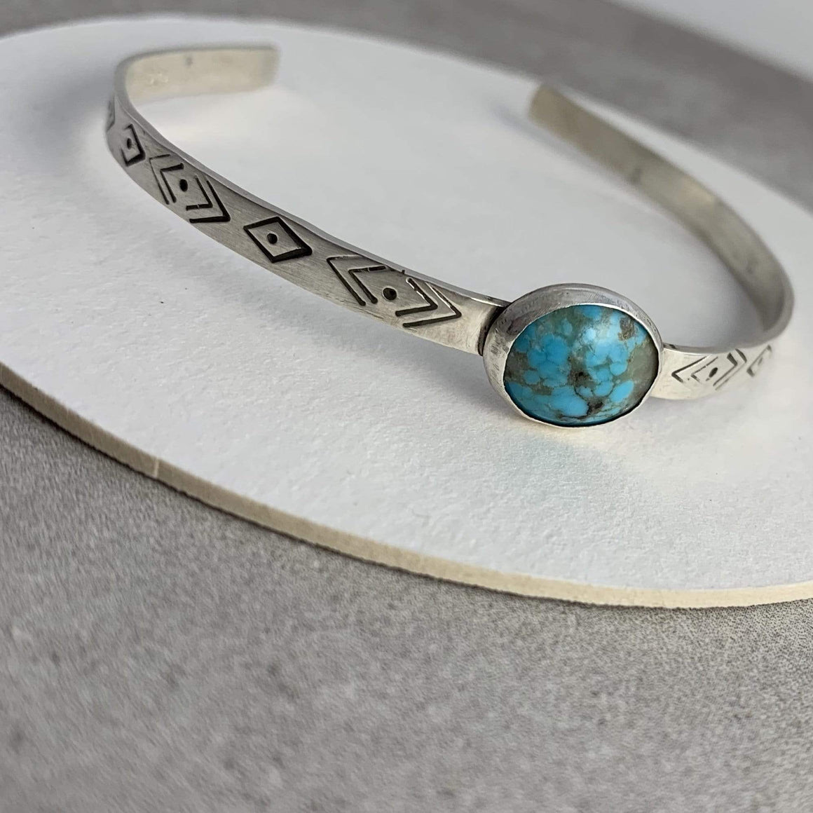 DLK Designs Kingman Turquoise Evil Eye Cuff