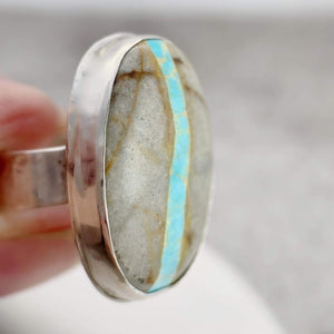 DLK Designs Royston Ribbon Turquoise Statement Ring