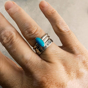 DLK Designs Sleeping Beauty Turquoise Handmade Ring by DLK Designs