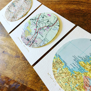 DLK Designs Vintage Map Wall Art by Dana Klopfer