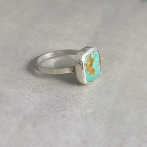 DLK Designs World Peace Kingman Turquoise Handmade Ring