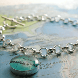 dlkdesigns Bracelet Charming Map Toggle Custom Bracelets