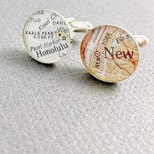 dlkdesigns Cufflinks World Map Cufflinks