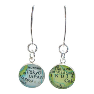 dlkdesigns Earrings Longing For Vacay Map Earrings