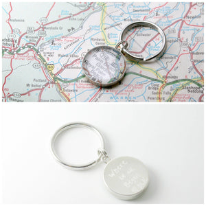 dlkdesigns Keychain Engraved Map Keychain
