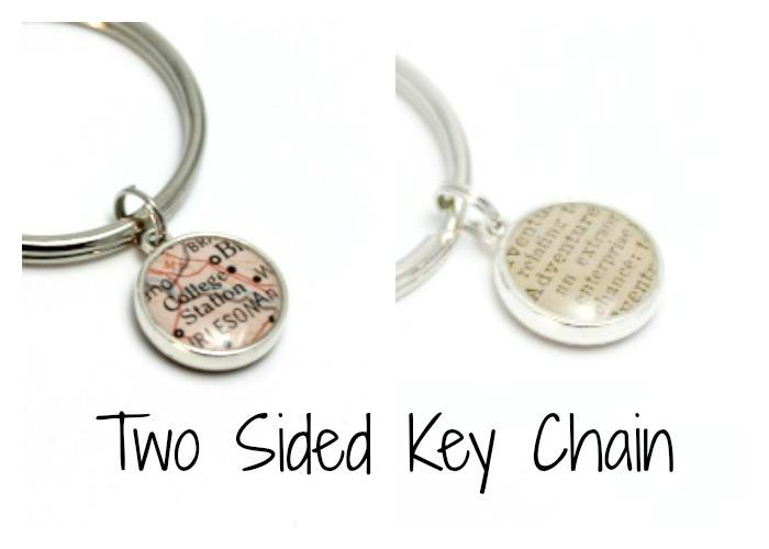 dlkdesigns Keychain Two Sided Sterling Silver Keychain