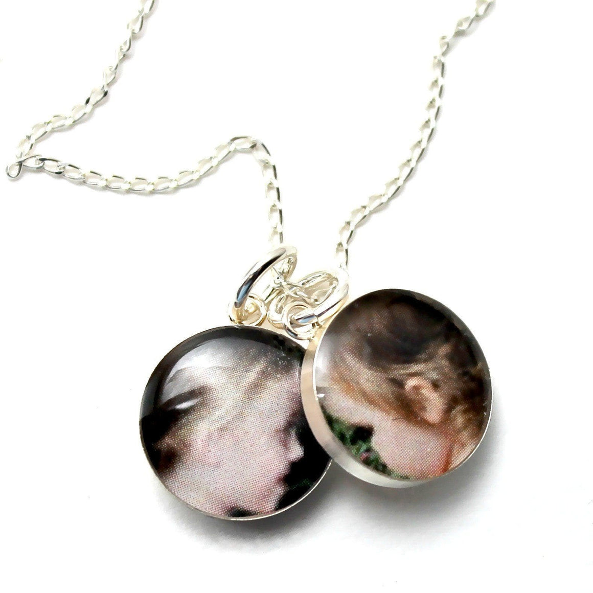 dlkdesigns Necklace Custom Petite Double Photo Charm Necklace