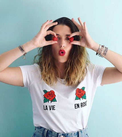 T-shirt La vie en rose