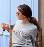 lyon sweat - sweatshirt brodé - pull brodé - feel good collection - kaipih - coton bio - broderie française - marque responsable