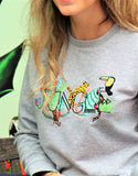 Jungle sweat - tropical - sweatshirt brodé - pull brodé - feel good collection - kaipih - coton bio - broderie française - marque responsable