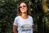 t-shirt brodé - dream on - kaipih - broderie française - coton bio - mode éthique - marque responsable - made in france