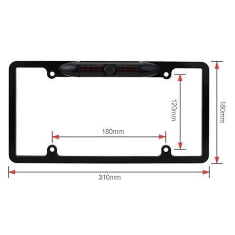 License plate frame 170 degree Angle rear view camera(Buy 2 free shipping)