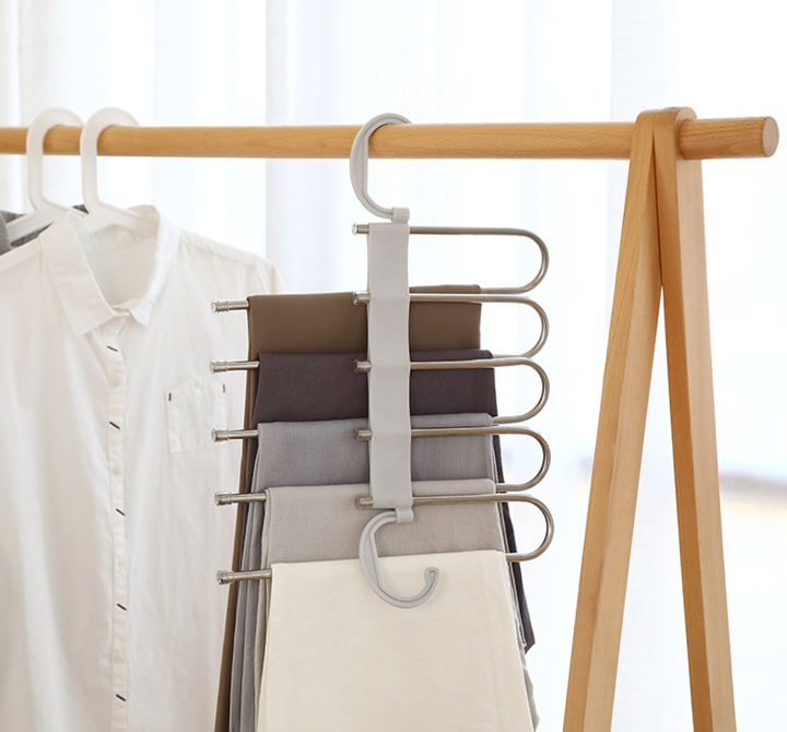 (Last Day Promotion 60% OFF) - Multi-Functional Pants Rack
