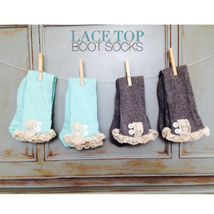 Lace Top Boot Socks