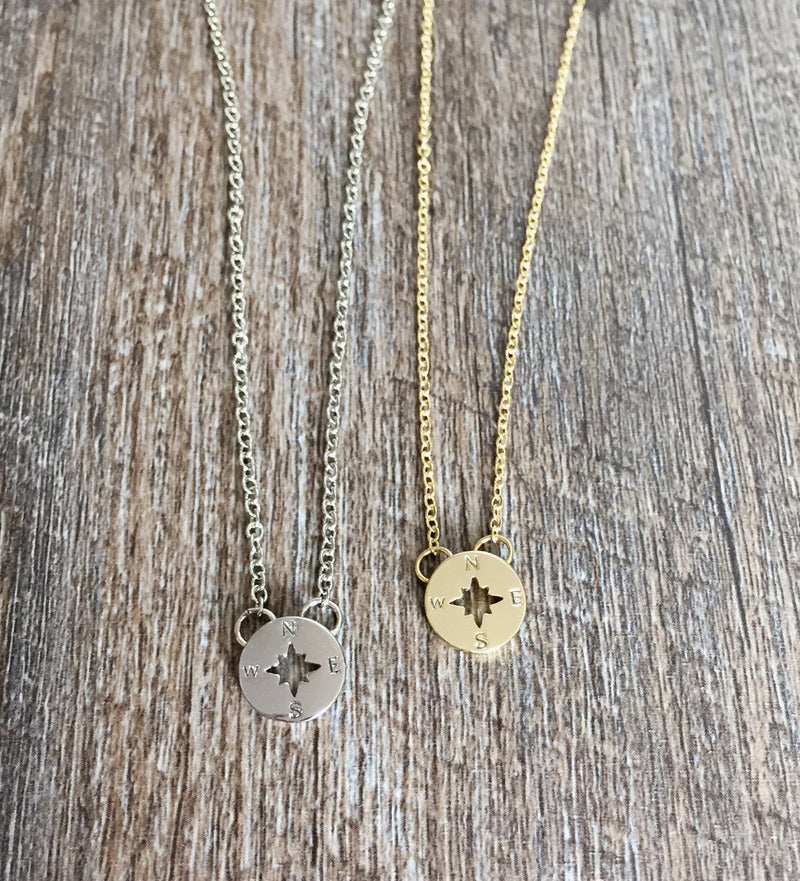 Compass Minimalist Necklace