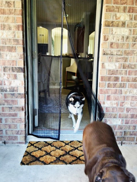 Magnetic Mesh Mosquito Screen Door!