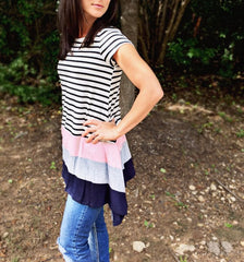 Stripe & Colorblock Top - 3 Colors!