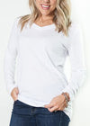 Boyfriend Long Sleeve V-Neck Tee! S-XL