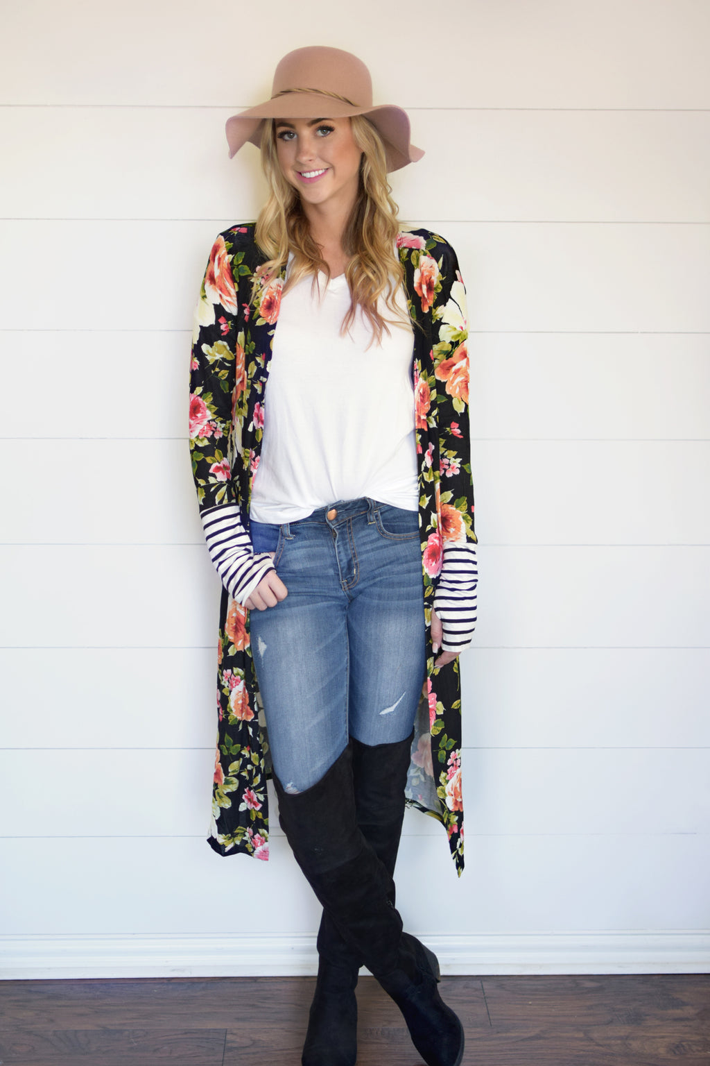 Whitney Long Thumbhole Cardigan