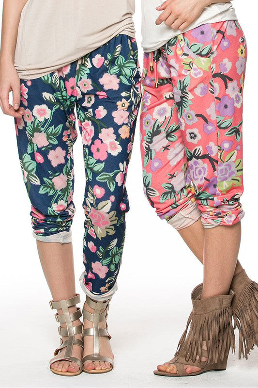 Floral Summer Pants - 2 Colors!