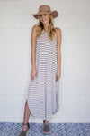 Stripe Halter Maxi Dress