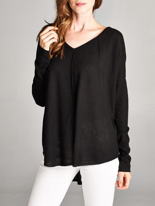 Inverted Seam Lightweight Sweater