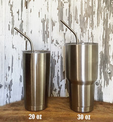 Extra Long Stainless Straws | For Yeti 30 oz Tumbler!