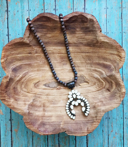 Single Strand Squash Blossom Necklace!