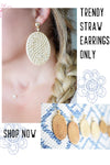 Woven Straw Earrings