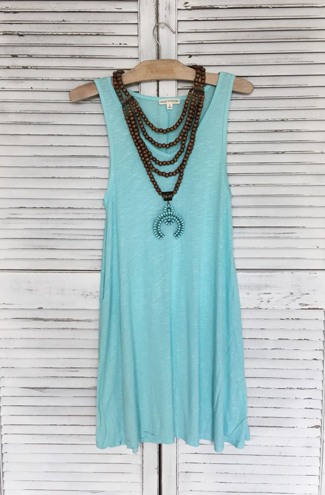 V Neck Tank Dress - 6 Colors!