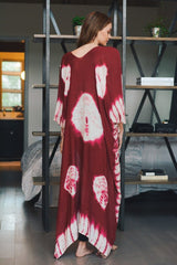 Tie Dye Long Length Cover-Up Kimono
