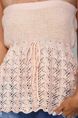 Crochet Tie Waist Tube Top