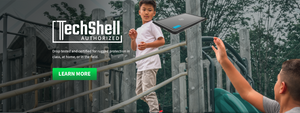 Drop tested and certified rugged protection in class, at home, or in the field by TechShell.