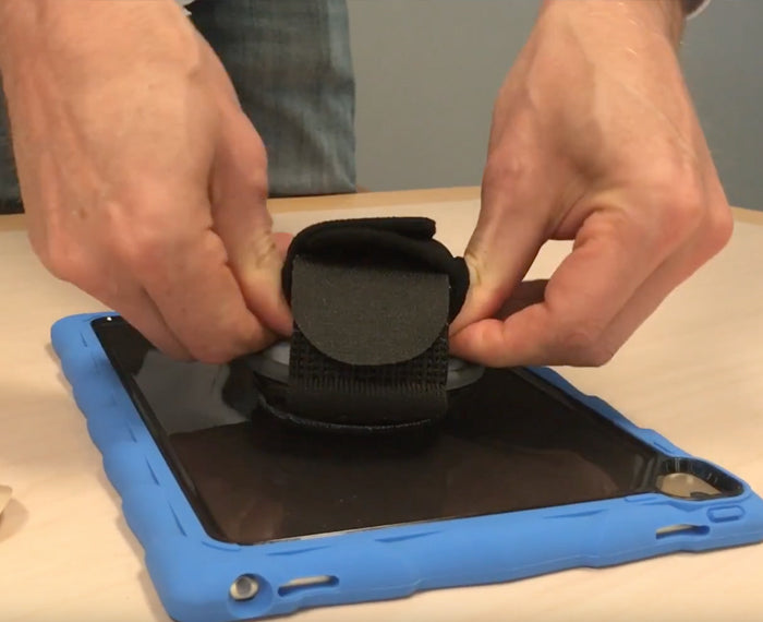 Watch how to install a hand strap on a case