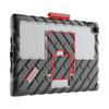 hideaway ipad 9.7 case (5th & 6th gen) version 2 – black - red