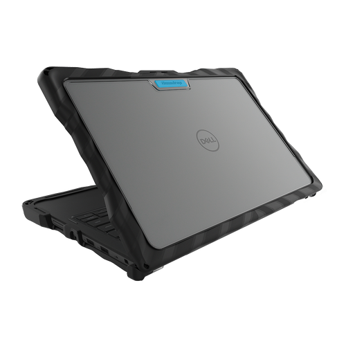 DropTech for Dell Latitude 3120 (Clamshell) - Black - Back Hero