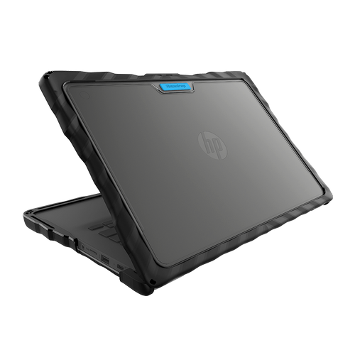 DropTech for HP Chromebook 14 G6 - Black - Hero Back View