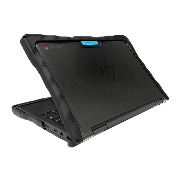 DropTech for HP Chromebook x360 11 G4 EE - Black - Hero