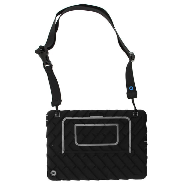 Hideaway for iPad 10.2-inch - Back view with strap - Black