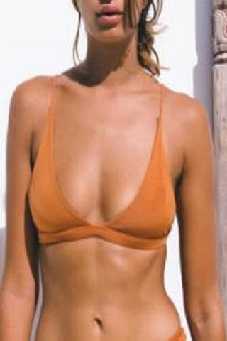 Bayu The Label Sempu Bikini Top in Rust