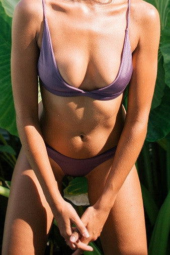 Bayu The Label Sempu Bikini Top in Violet Salamander Shop
